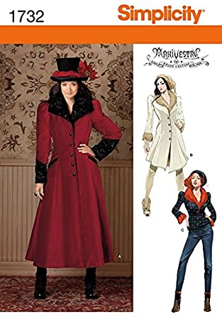 Amazon.com: Simplicity Ladies Sewing Pattern 1732 Victorian Style ...