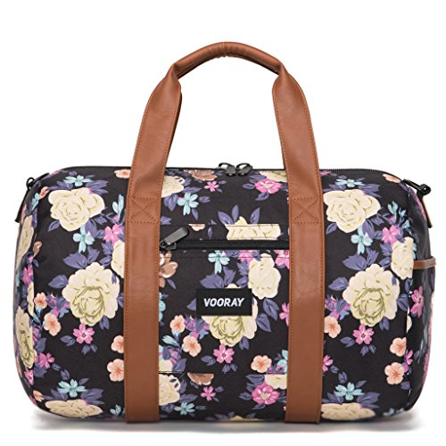 vooray-roadie-16-small-gym-duffle-bag-macana-floral-black