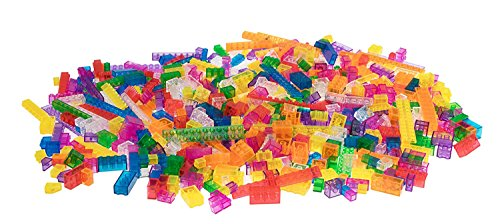 Strictly Briks 672 Piece Classic Bricks Building Brick Set | 100% Compatible with All Major Brick Brands | Premium Tight Fit Building Bricks in Clear Colors | 9 Different Shapes and Sizes