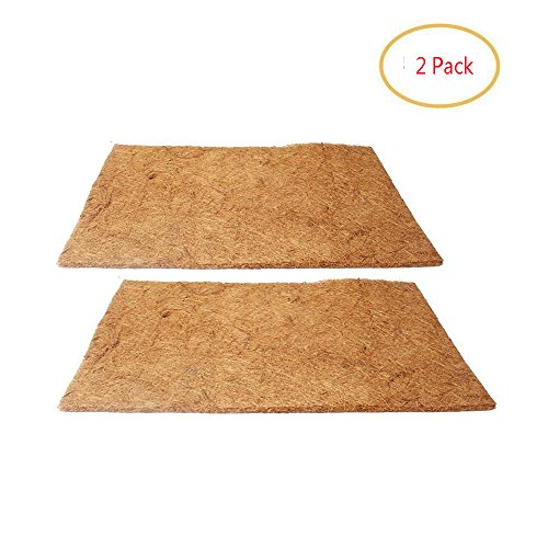 Hamiledyi Reptile Carpet,Natual Coconut Fiber Carpet for Pet Terrarium Liner (2sheets) ()