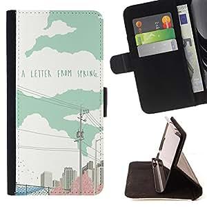 Jordan Colourful Shop - FOR Samsung Galaxy S3 III I9300 - a letter from spring - Leather Case Absorci¨®n cubierta de la caja de alto impacto