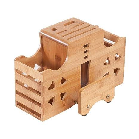 Compra TX ZHAORUI Sostenedor de Cuchillo de bambú para ...