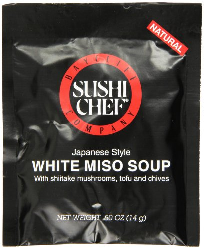 Sushi Chef White Miso Soup Mix, 0.50 Ounce Packet (Pack of 72) (Sushi Sushi Soy Chef)