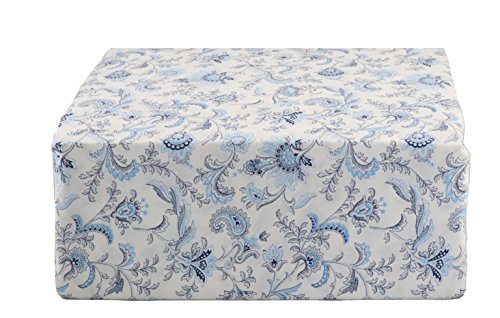 (Ralph Lauren Blue and Navy Jacobean Floral on Off-White Sheet Set King)