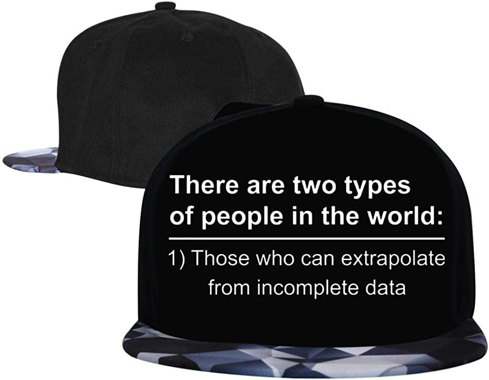 There are Two Types of People in The World Mens and Womens Trucker Hats Adjustable Hip Hop Flat-Mouthed Baseball Caps