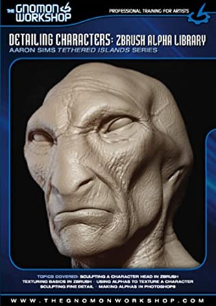 Amazon com: Detailing Characters: Zbrush Alpha Library
