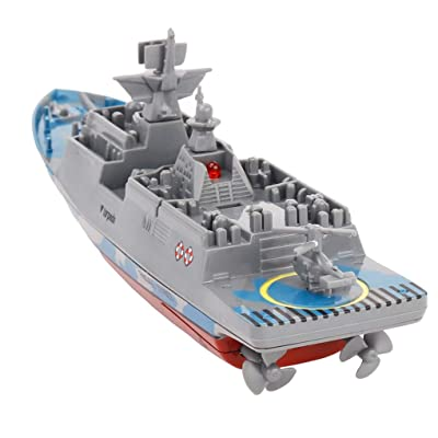 Firiodr Battleship RC Warship Remote Control Cruiser Speedboat Model Children Aircraft Carrier Toys: Computers & Accessories