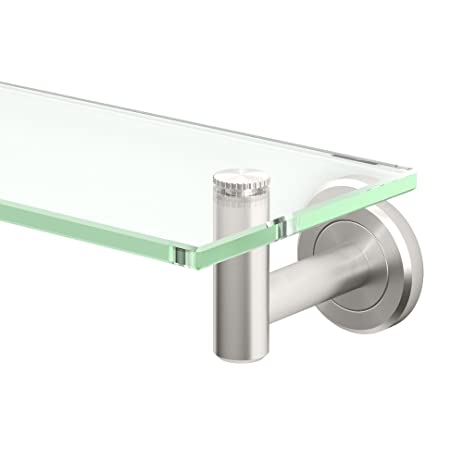 Gatco 4296 Latitude II 20 Inch Glass Shelf, Satin Nickel