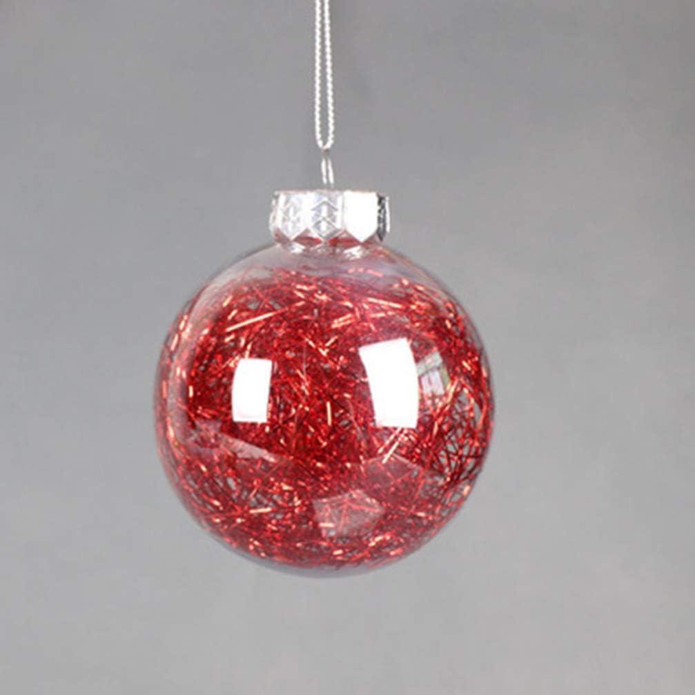 BESPORTBLE 10pcs Boules de Noel Ornements clairance de la d/écoration pour la Maison Arbre Pendants Suspendus balles Rouge