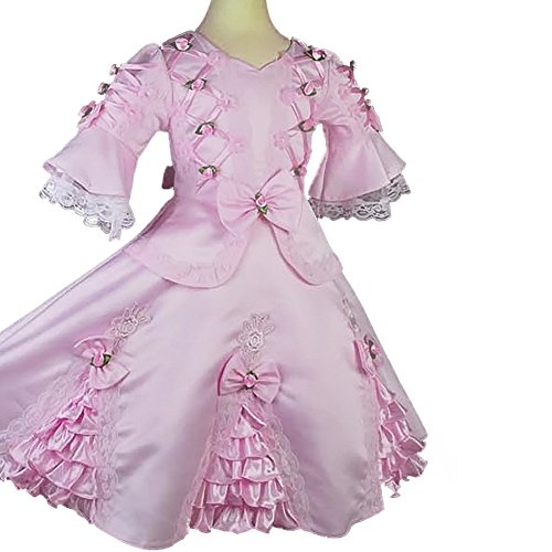 (Dressy Daisy Girls Satin Vintage Victorian Dresses Fancy Costume Pageant Flower Girl Dress Size 3-4T)