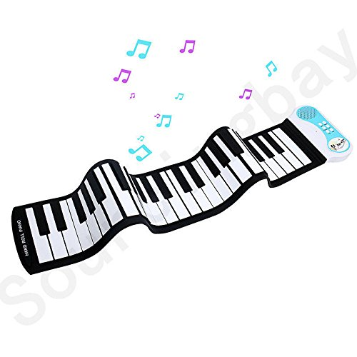 Children's Piano Electronic Digital Music Piano Keyboard 49 Key Foldable Recording Feature 8 Different Tones Build-in Speaker Easy to Learn,Blue by Anyer Piano (Image #3)
