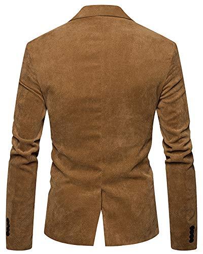 Élégant Fit Blazer Hommes Pour Khaki Casual Slim Business Suit Evvrw