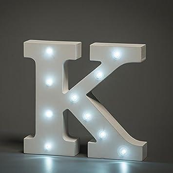 Amazoncom LED Letter Lights LAFEINA AZ Letters Lights Wooden