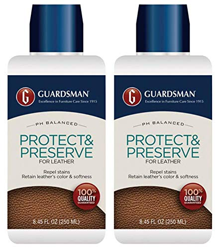 Guardsman Protect & Preserve for Leather 8.4 oz - Repels Stains, Retains Color and Softness, Great for Leather Furniture & Car Interiors - 471000-2 Pack by Guardsman (Image #5)
