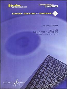 Book 15 Etudes de Phrase et de Velocite - Saxhorn/Euphonium