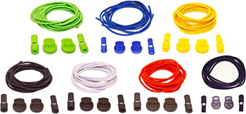 No Tie Elastic Shoelaces - 7 Pairs Stretch 39