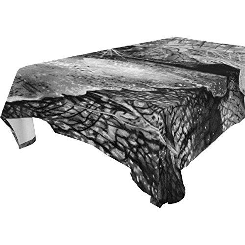 Ye Store Polyester Design Customized Sumatran Elephant Tablecloth 60x108(in)