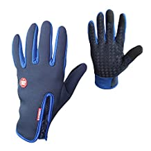 Baiyu Windproof Skidproof Touchscreen Sports Gloves Unisex Winter Outdoor Waterproof Thermal Full Finger Gloves for Cycling Skiing Hiking Hunting Climbing Camping for Men Women