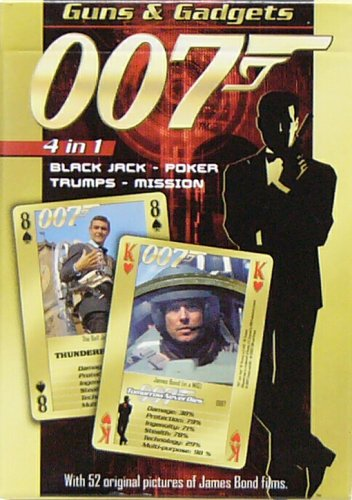 James Bond 007 - Guns and Gadgets Playing Cards