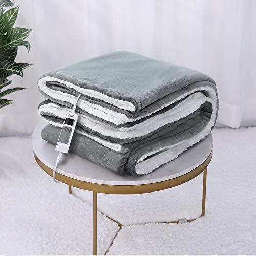 Manta Electrica Grande 180 x 130 cm, Suave Manta Térmica, Manta Calor Electrica para Camas & Sofa, Temporizador 6 Horas…