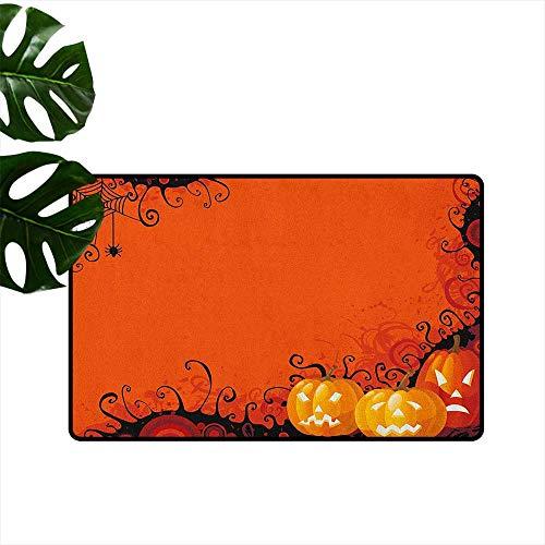 Spider Web,Cute doormats Three Halloween Pumpkins Abstract Black Web Pattern Trick or Treat 18