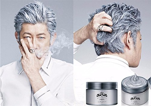 Silver Wax 120ml Men women Professional Hair Pomades,Moisturizing Styling Fluffy Matte Stereotypes Waxes ,Hair Gel Pomades