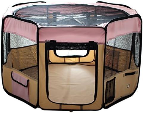 "ESK Collection - Parque de Juegos para Mascotas (48"", Tela Oxford 600D), Color Rosa 2"