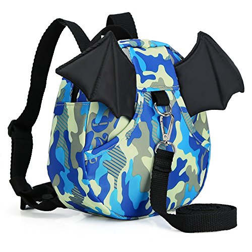 Walking Safety Harness Leash Backpack Travel Strap Anti Lost Bag (Little Devil Camouflage Blue) ()