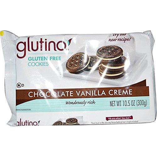 Glutino Cookies Gluten Free Chocolate Vanilla Creme -- 10.6 oz - 2 pc