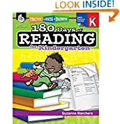 #9: 180 Days of Reading for Kindergarten (Ages 4-6) Easy-to-Use Kindergarten Workbook to Improve Reading Comprehension Quickly, Fun Daily Phonics Practice for Kindergarten Reading (180 Days of Practice)