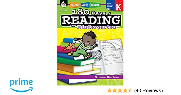 Amazon 180 days of reading for kindergarten ages 4 6 easy amazon 180 days of reading for kindergarten ages 4 6 easy to use kindergarten workbook to improve reading comprehension quickly fun daily phonics fandeluxe Choice Image