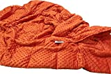 Ultra-Soft Orange Minky Weighted Sensory Blanket -25lb 48x70