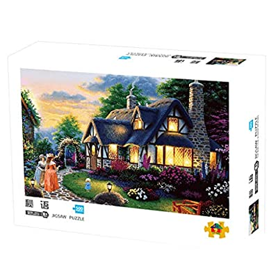 Kanzd Jigsaw Puzzle 500 Pieces for Adults, Landscape Oil Painting Pattern Adult Children Puzzle Intellective Educational Toy (C): Home & Kitchen