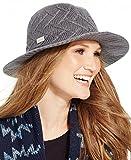 Calvin Klein Womens Knit Floppy Hat (Heathered Coal)