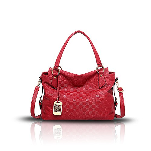 Tisdaini Soft Bags Messenger Bag Shoulder Bag Fashion Pattern Solid Color New Ladies Handbag Red Bag