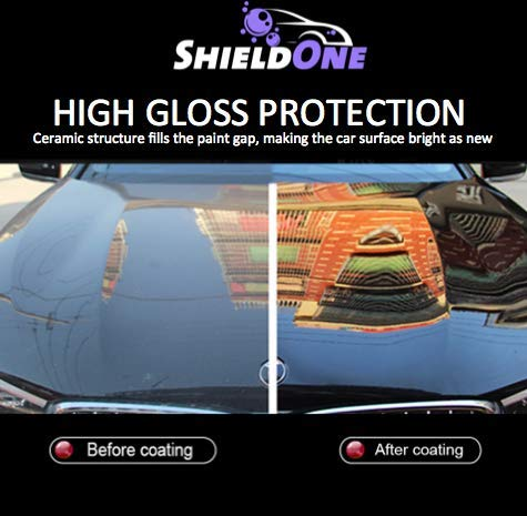 Shield One Advanced Ceramic Spray Coating - Car Topcoat - Premium Car Polish - Automotive Ceramic Shine - Multiple Surface Use - Professional Car Protection - Top Coat Polish - Waterless Car Wash by Shield One (Image #4)