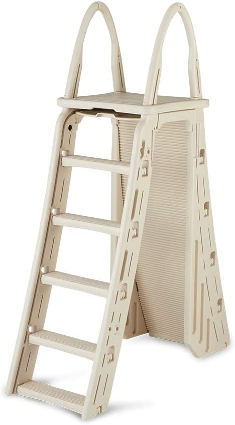 Confer Plastics A-Frame 7200 Above Ground Adjustable Pool Roll-Guard Safety Ladder : Swimming Pool Ladders : Garden & Outdoor