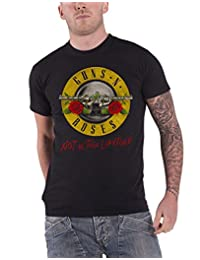 Guns N Roses T Shirt Not in This Lifetime Tour Band Logo Official Mens New Black