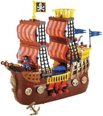 B000NW3LP6 Fisher-Price Imaginext Adventures Pirate Ship 51KnIPiyVLL.