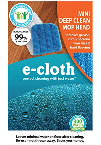 E-Cloth Mini Deep Clean Mop Head, E-Cloth Window Genie, Home Cleaning - Perfect Cleaning with Just Water (Mini Deep Clean Mop Head)