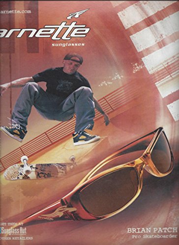 --PRINT AD-- With Skateboarder Brian Patch For 2005 Arnette Sunglasses --PRINT - Arnette Sale For Sunglasses