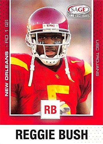 Reggie Bush football card (USC Trojans) 2006 SAGE Game Exclusives Rookie #5