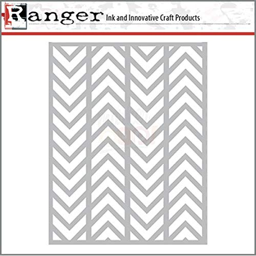 Ranger Letter It Stencil - BG Alternating Chevrons