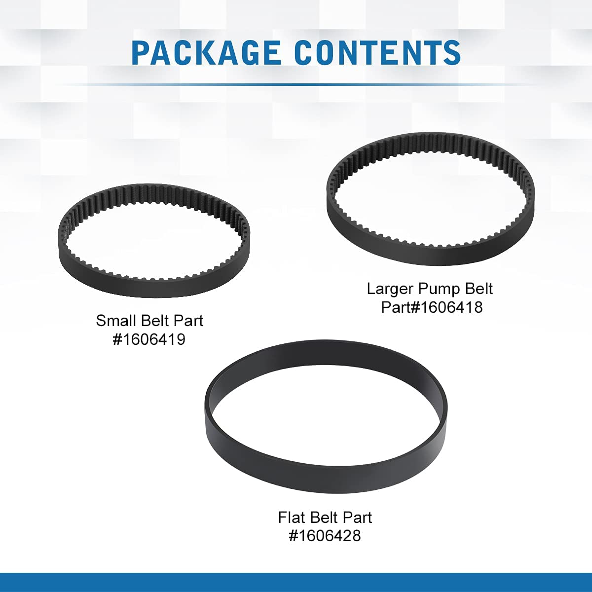 1606428 LANMU Replacement Belt Set Compatible with Bissell ProHeat ...