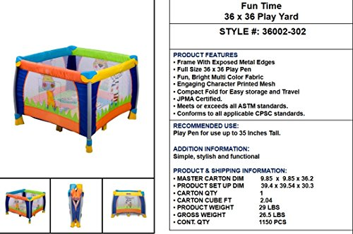 Delta Children 36'' x 36'' Play Yard, Fun Time by Delta Children (Image #3)