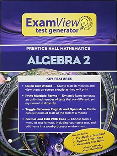 Prentice hall math algebra 2 examview test generator booklet with cd prentice hall math algebra 2 examview test generator booklet with cd 2004c fandeluxe Image collections