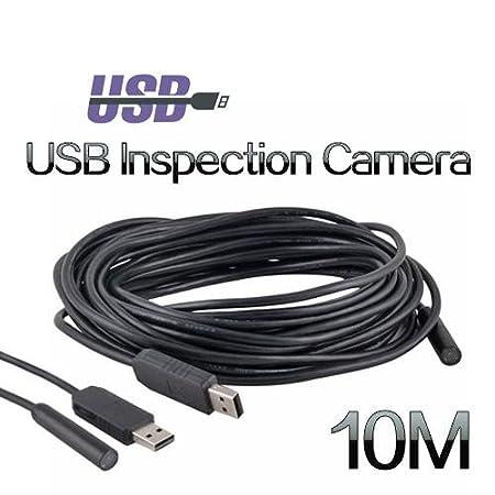 Amazon.com: 4 LED 10M USB Waterproof Borescope Endoscope Inspection ...