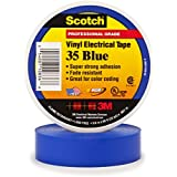 3M Scotch #35 Electrical Tape 10836-BA-10, 3/4-Inch by 66-Foot by 0.007-Inch, Blue