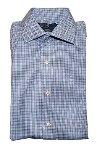 Ralph Lauren Polo Mens Regent Classic Fit Dress Shirt Check Blue Navy 16/40-41