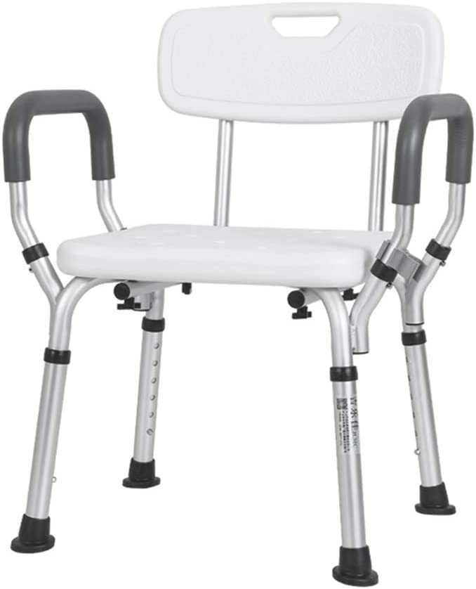 JHome-Bathing Stool Lightweight Height Adjustable Shower Stool, Bathroom Seat, Shower Chair, Bathing Aid for Elderly, Disabled, and Handicapped, Bath Seat Bench